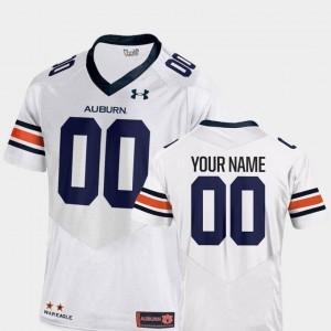 Auburn Tigers Custom Jersey #00 2018 Replica Mens White College Football
