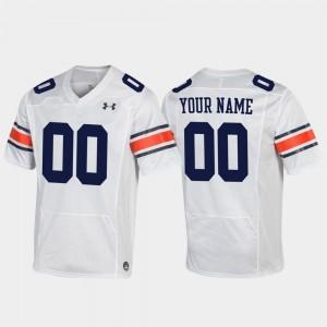 Auburn Tigers Customized Jersey Men's Replica #00 Football White