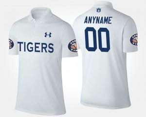 Auburn Tigers Customized Polo #00 White Men's