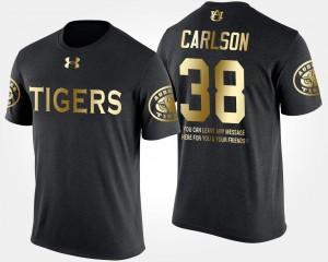 Auburn Tigers Daniel Carlson T-Shirt Gold Limited Black Short Sleeve With Message #38 Men