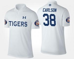 Auburn Tigers Daniel Carlson Polo #38 For Men White