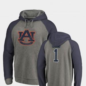 Auburn Tigers Hoodie Greatest Dad Men's Heathered Raglan Tri-Blend Big & Tall