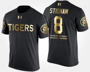 Auburn Tigers Jarrett Stidham T-Shirt #8 Men Short Sleeve With Message Gold Limited Black