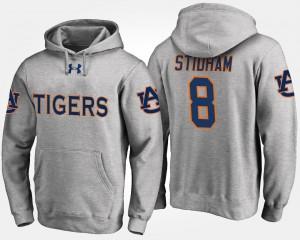 Auburn Tigers Jarrett Stidham Hoodie Gray For Men's #8