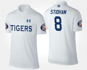 Auburn Tigers Jarrett Stidham Polo White #8 For Men