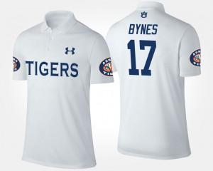 Auburn Tigers Josh Bynes Polo For Men's #17 White