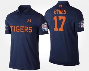 Auburn Tigers Josh Bynes Polo #17 Peach Bowl Navy Bowl Game Mens