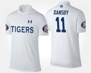 Auburn Tigers Karlos Dansby Polo Men White #11