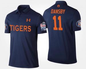 Auburn Tigers Karlos Dansby Polo Navy Men #11 Peach Bowl Bowl Game