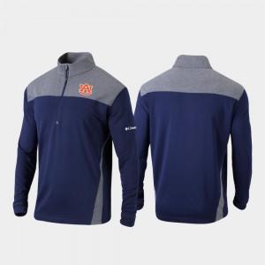 Auburn Tigers Jacket Omni-Wick Standard Mens Navy Quarter-Zip Pullover