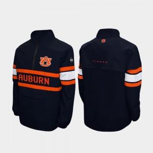 Auburn Tigers Jacket For Men Navy Quarter-Zip Alpha Windshell Pullover
