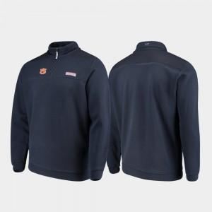 Auburn Tigers Jacket Navy Quarter-Zip Shep Shirt Men's