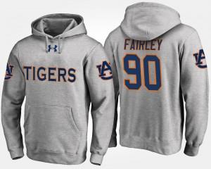 Auburn Tigers Nick Fairley Hoodie For Men's Gray #90