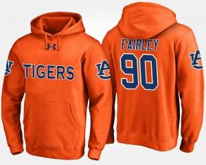 Auburn Tigers Nick Fairley Hoodie Orange For Men #90