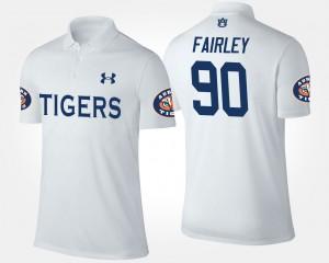 Auburn Tigers Nick Fairley Polo Men White #90