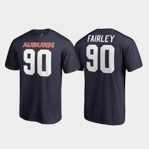 Auburn Tigers Nick Fairley T-Shirt #90 Name & Number Mens Navy College Legends