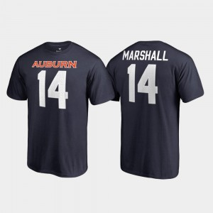 Auburn Tigers Nick Marshall T-Shirt #14 Name & Number For Men College Legends Navy
