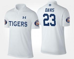 Auburn Tigers Ryan Davis Polo Men's White #23
