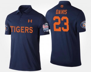 Auburn Tigers Ryan Davis Polo Navy Bowl Game #23 Mens Peach Bowl