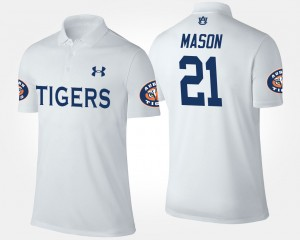 Auburn Tigers Tre Mason Polo White #21 Men
