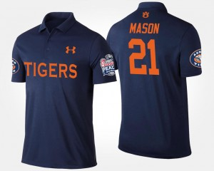 Auburn Tigers Tre Mason Polo For Men's Peach Bowl #21 Bowl Game Navy