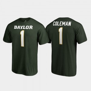 Baylor Bears Corey Coleman T-Shirt College Legends Name & Number Green #1 Men's