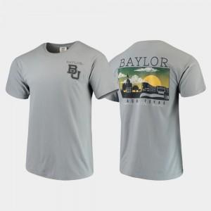 Baylor Bears T-Shirt Campus Scenery Mens Gray Comfort Colors