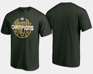 Baylor Bears T-Shirt For Men's Basketball Conference Tournament 2018 Big 12 Champions Green