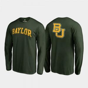 Baylor Bears T-Shirt Primetime Men Long Sleeve Green