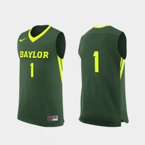 Baylor Bears Jersey College Basketball Green #1 For Men Replica