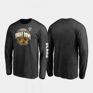 Baylor Bears T-Shirt Neutral Stiff Arm Long Sleeve Heather Charcoal 2020 Sugar Bowl Bound Men's