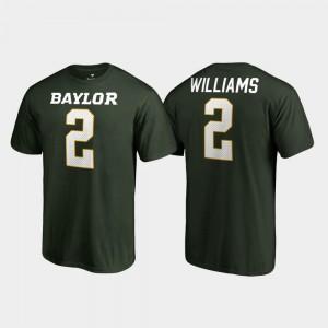Baylor Bears Terrance Williams T-Shirt #2 Name & Number Mens Green College Legends