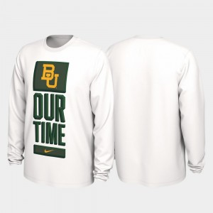 Baylor Bears T-Shirt White 2020 March Madness For Men Our Time Bench Legend