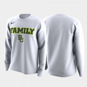 Baylor Bears T-Shirt March Madness Legend Basketball Long Sleeve White Men Family on Court