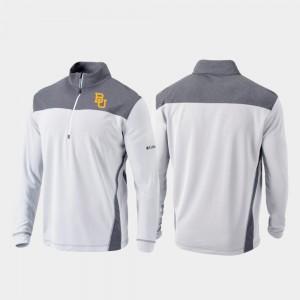 Baylor Bears Jacket Mens Omni-Wick Standard White Quarter-Zip Pullover