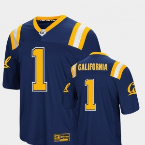 California Golden Bears Jersey #1 Colosseum Authentic Navy Foos-Ball Football Mens
