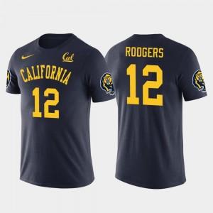 California Golden Bears Aaron Rodgers T-Shirt For Men's Navy Future Stars Green Bay Packers Football #12