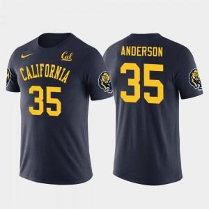 California Golden Bears C.J. Anderson T-Shirt Los Angeles Rams Football Future Stars Navy For Men's #35