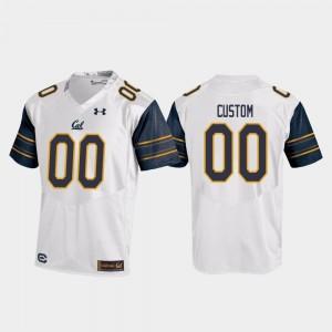 California Golden Bears Custom Jersey White For Men's #00 Replica College Football