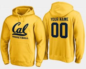 California Golden Bears Custom Hoodie For Men's Basketball - #00 Gold