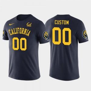 California Golden Bears Customized T-Shirt Navy #00 Future Stars Cotton Football For Men's