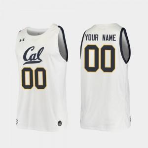 California Golden Bears Customized Jerseys Replica White #00 Men 2019-20 College Basketball