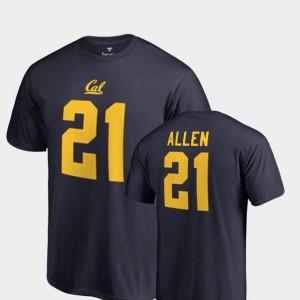 California Golden Bears Keenan Allen T-Shirt College Legends Name & Number #21 Navy Men