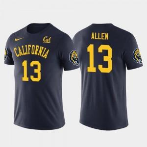 California Golden Bears Keenan Allen T-Shirt #13 Los Angeles Chargers Football Future Stars Men's Navy