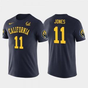 California Golden Bears Marvin Jones T-Shirt For Men's Future Stars Detroit Lions Football Navy #11