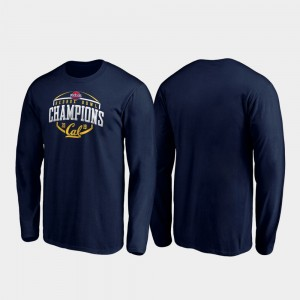 California Golden Bears T-Shirt 2019 Redbox Bowl Champions Corner Long Sleeve Navy Mens