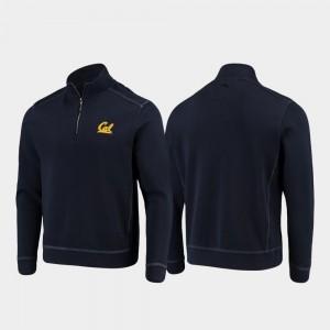 California Golden Bears Jacket Navy Mens College Sport Nassau Half-Zip Pullover Tommy Bahama