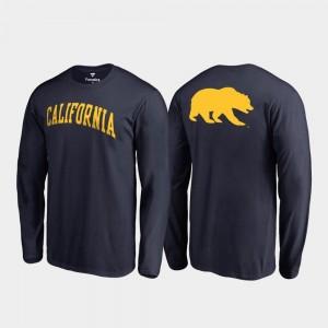California Golden Bears T-Shirt For Men's Primetime Long Sleeve Navy