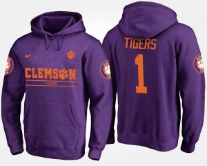 Clemson Tigers Hoodie #1 Men's Purple No.1