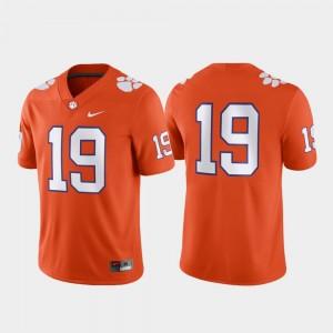 Clemson Tigers Jersey #19 Game Orange Men